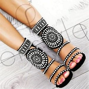 Shoes - Pearl studded heels